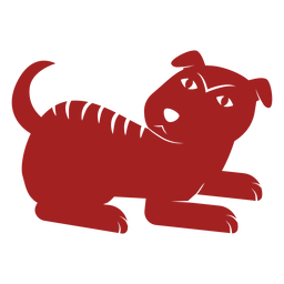 Dog puppy chinese astrology silhouette