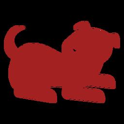 Silhueta de astrologia chinesa cachorro filhote de cachorro