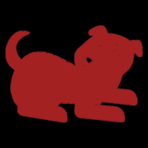 Perro cachorro astrología china silueta
