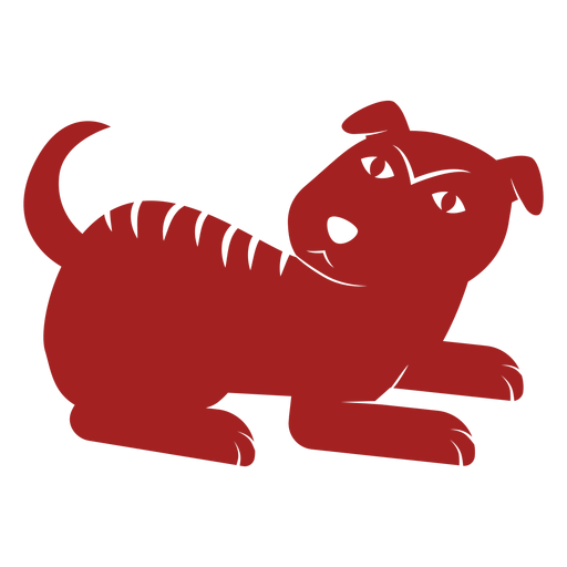 Silhueta de astrologia chinesa cachorro filhote de cachorro Transparent PNG