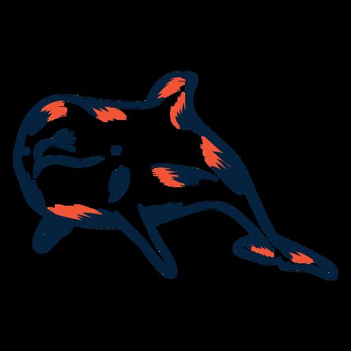 Duotono de delfines Transparent PNG