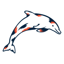 Delfin springender Duoton