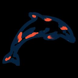 Golfinho pulando duotônico