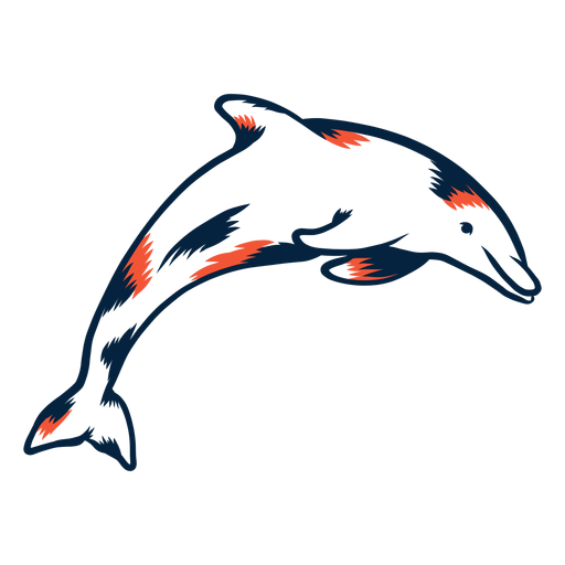 Dolphin jumping duotone Transparent PNG