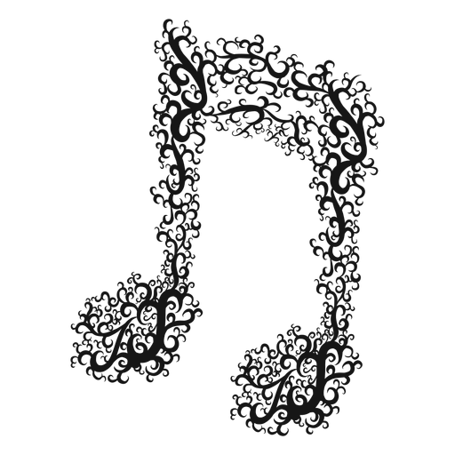 Double beamed musical note swirl