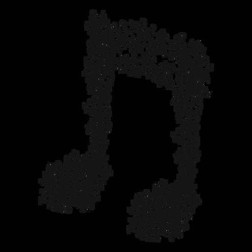 Redemoinho de nota musical com vigas duplas Transparent PNG