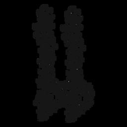 Doppelter flacher musikalischer Symbolstrudel