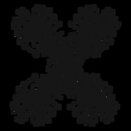 Redemoinho duplo símbolo musical afiada
