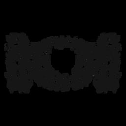 Doble nota completa símbolo musical remolino