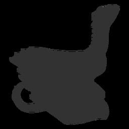 Silhueta de cauda de asa de pescoço de dragão
