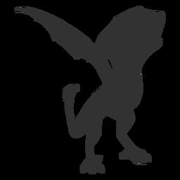 Escala de dragón ala cola silueta