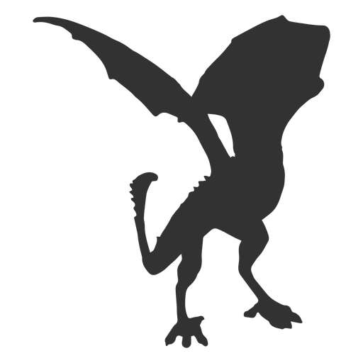Dragon scale wing tail silhouette Transparent PNG