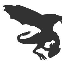 Dragon simple silhouette
