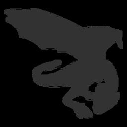 Silhueta simples de dragão