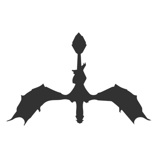 Dragon tail neck silhouette Transparent PNG