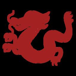 Silhueta de astrologia chinesa de escala de cauda de dragão