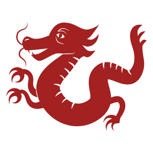 Escala de cola de dragón silueta de astrología china