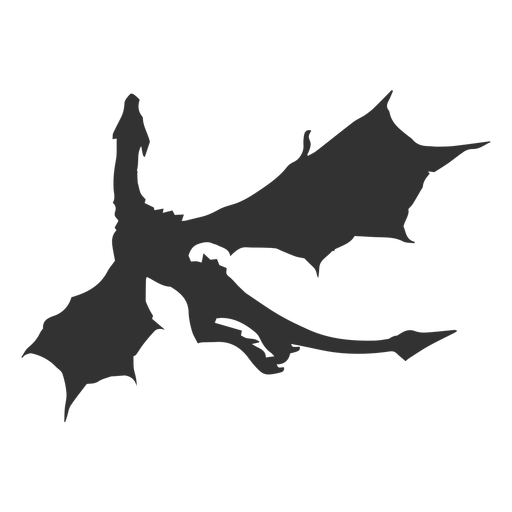 Dragon tail wing silhouette Transparent PNG
