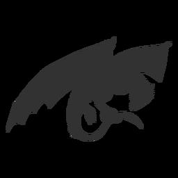 Ala de dragón escala silueta de cola