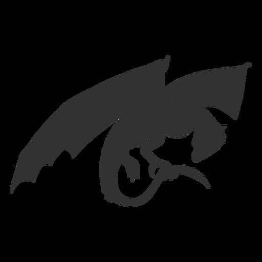 Ala de dragón escala silueta de cola Transparent PNG