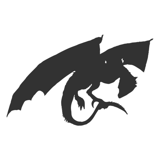 Dragon wing tail scale silhouette Transparent PNG