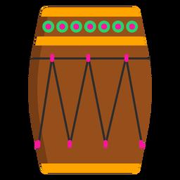 Drum circle pattern flat