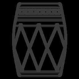 Tambor círculo patrón trazo