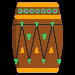 Círculo de padrão de tambor liso