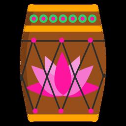 Tambor patrón círculo loto plano