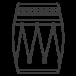 Patrón de tambor círculo trazo
