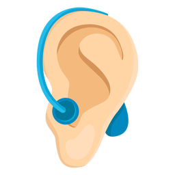 Ear deafness earlobe deaf aid hearing aid illustration