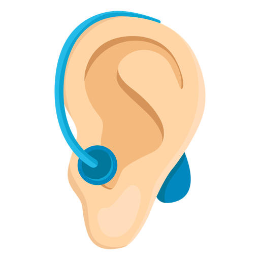 Ear deafness earlobe deaf aid hearing aid illustration Transparent PNG
