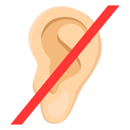 Ear deafness earlobe sign illustration