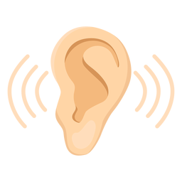 Ear earlobe sound illustration