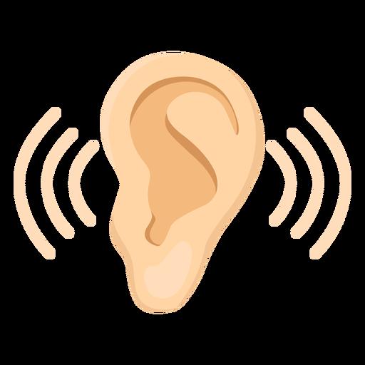 Ilustração do som do lóbulo da orelha Transparent PNG