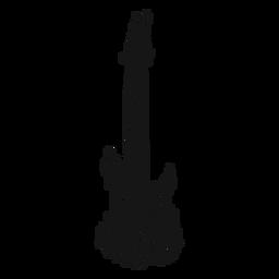 Ícone de redemoinho de instrumento de guitarra elétrica