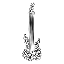 Icono de guitarra eléctrica instrumento remolino