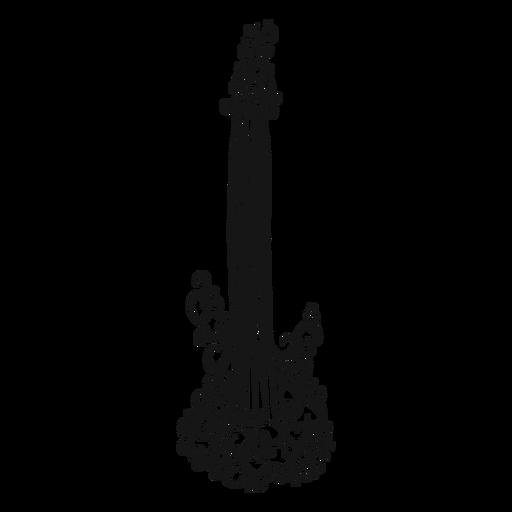 Icono de guitarra eléctrica instrumento remolino Transparent PNG