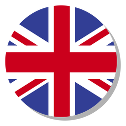 Círculo de ícone de língua de bandeira de Inglaterra
