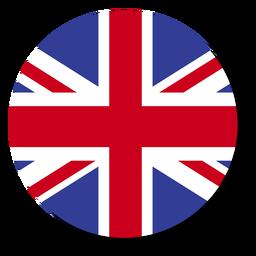 Círculo do ícone do idioma da bandeira da Inglaterra