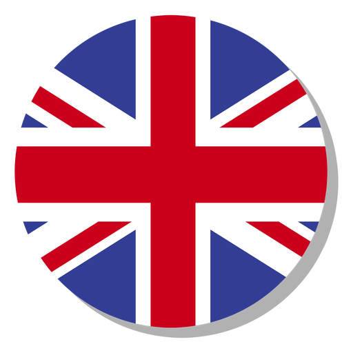 England flag sprache icon kreis Transparent PNG