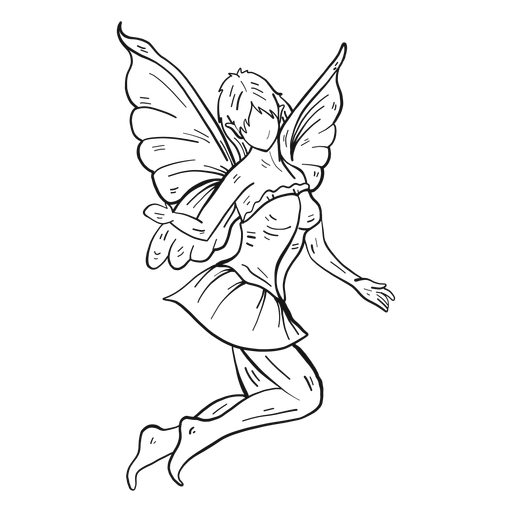Fairy jumping line Transparent PNG