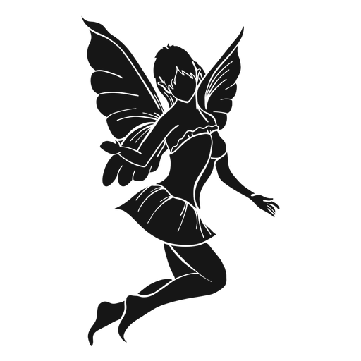 Fairy jumping silhouette Transparent PNG