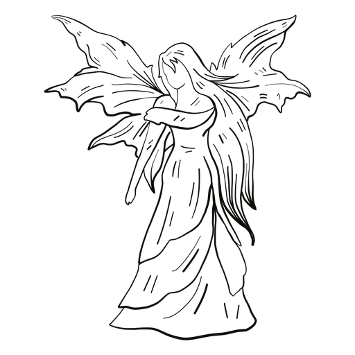 Fairy standing line Transparent PNG