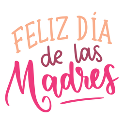 Feliz dia de las madres spanish text sticker