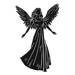Anjo feminino escuro