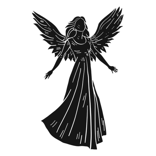 Mujer angel dark Transparent PNG