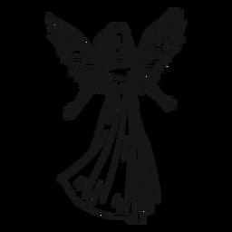 Weibliche engel linie