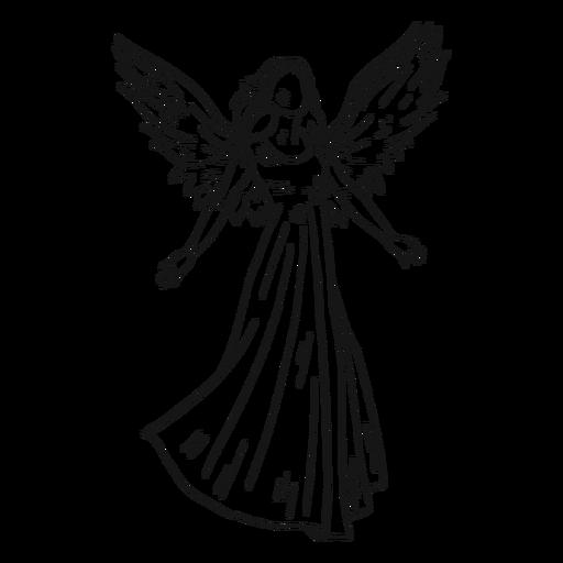 Línea de ángel hembra Transparent PNG