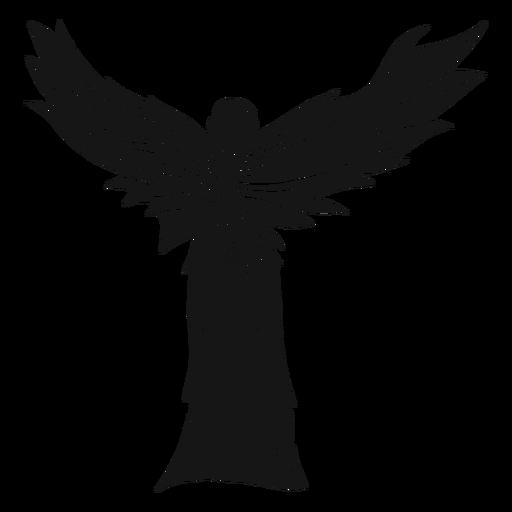Ángel femenino vista trasera oscuridad